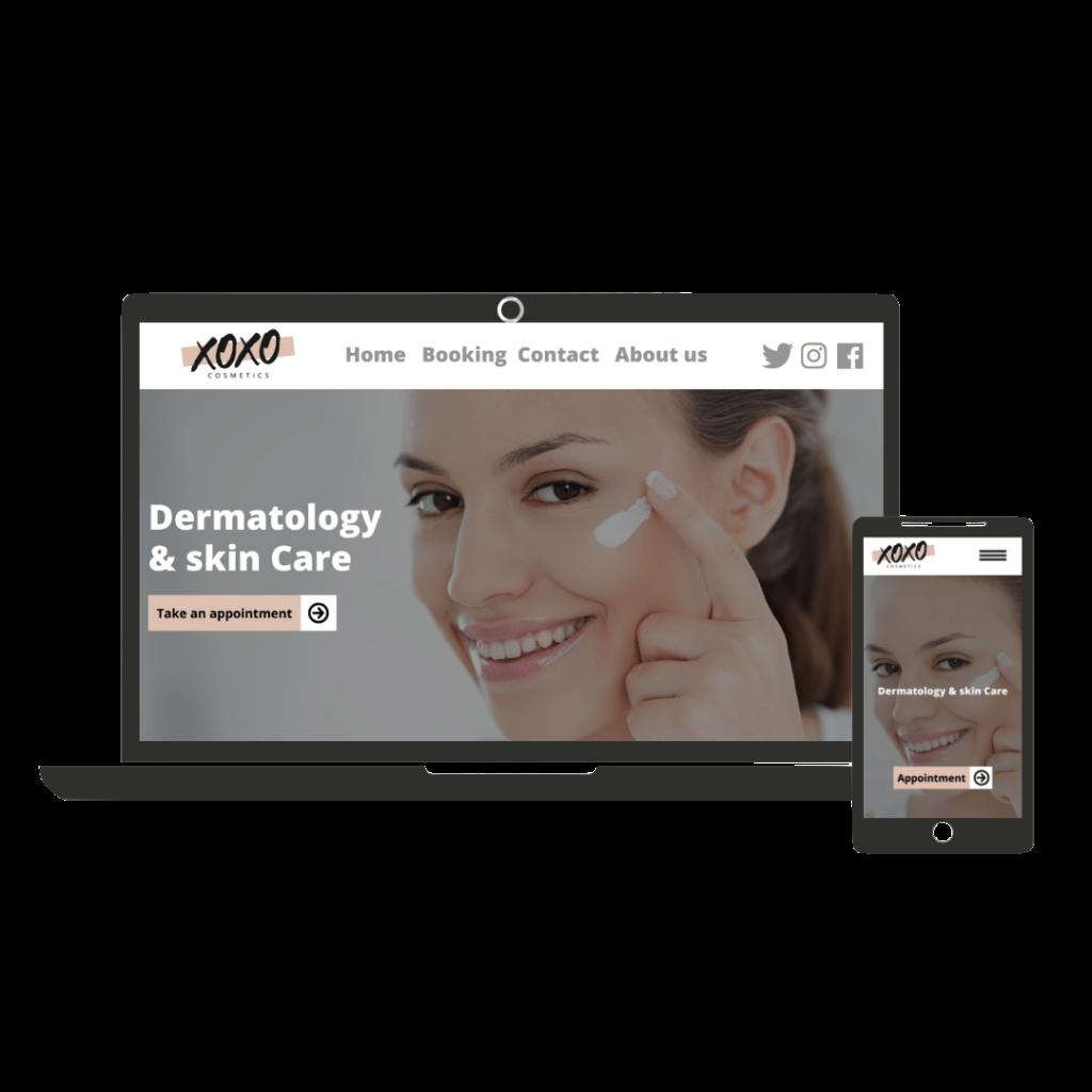 Website example for esthetique centre
