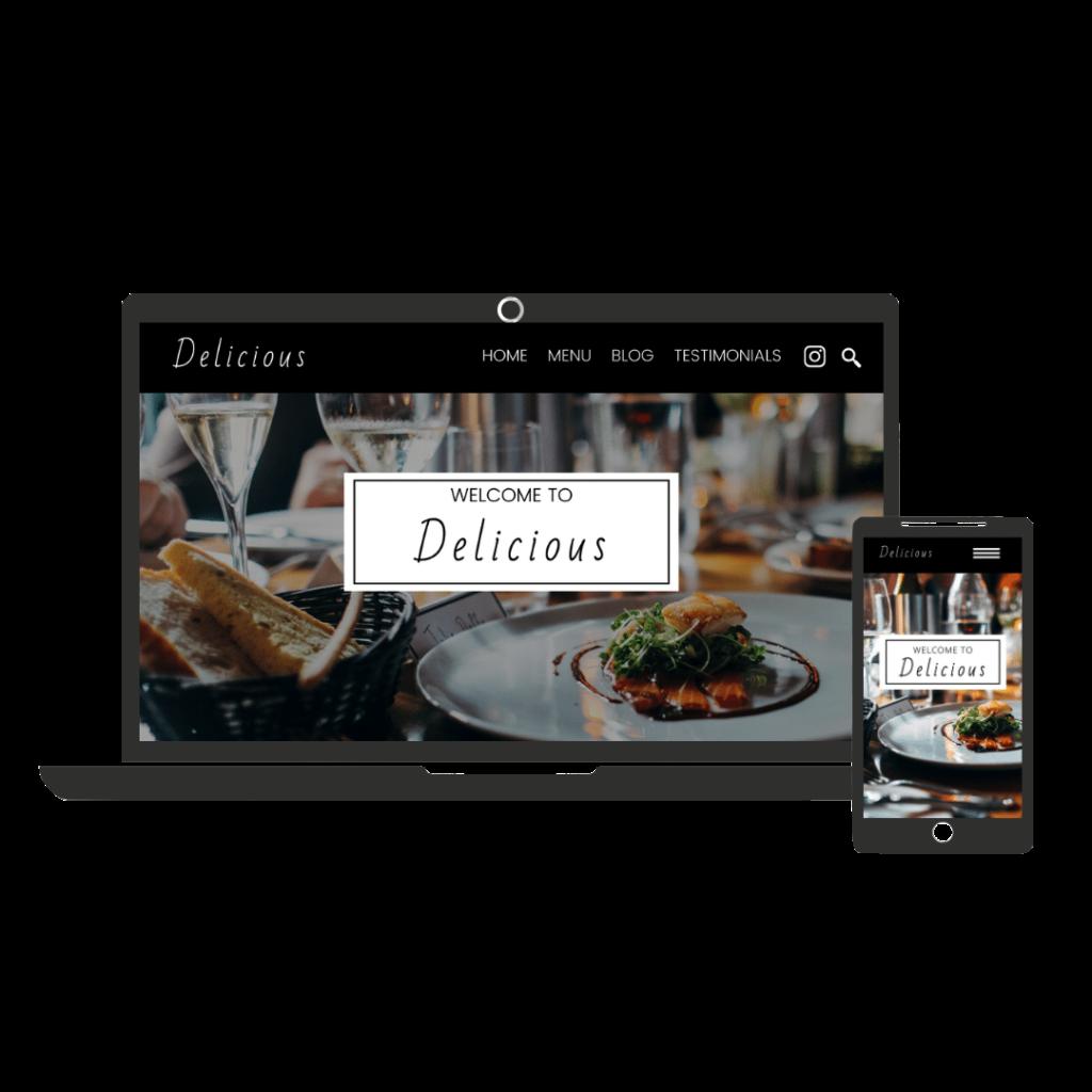 Website example for restaurant