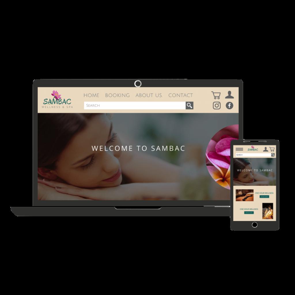 Website example for wellness centre